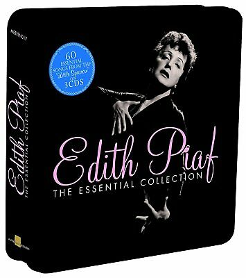 Edith Piaf 60 Essential Songs from Little Sparrow 3 CD COLLECTION Tin