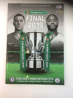 Chelsea Vs Manchester City Carabao Cup Final 2019 Programme