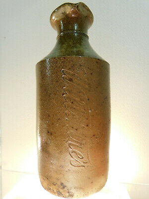 Antique 1870 Goldfields Wiltshires 5 Oz Pour Lip Inkwell Stoneware Old Bottle