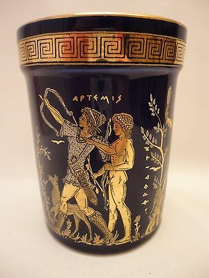 Goddess Artemis Aphrodite & Adonis God Apollo Ancient Greek Art Pottery Vase Cup