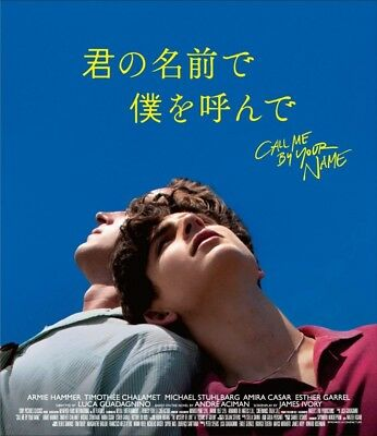New Call Me By Your Name Standard Edition Blu-ray Japan HPXR-277 4907953270749
