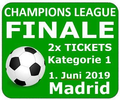"1-2x ""Kategorie 1"" Tickets/Karten UEFA Champions League Finale 01.06.2019 Madrid"
