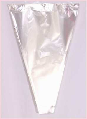 50 x Clear Cellophane FLOWER PLANT SLEEVE WRAP bouquet ready made cone FLORAL