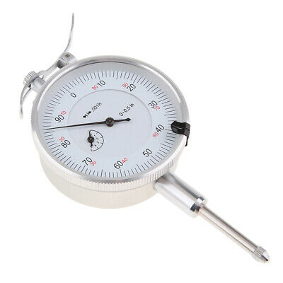 0-0.5 Inch Precision Dial Test Indicator Gage Gauge with Pointer, 0.001 Inch