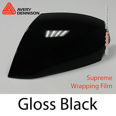 Gloss Schwarz Total Abdeckung CB1420001 Avery Dennison Supreme Wrapping Folie