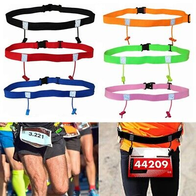 High quality Running Waist Pack Sports Tool Cloth Bib Holder Race Number Belt