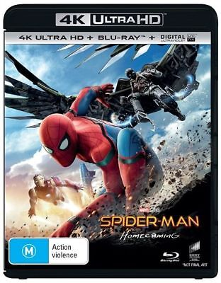 Spider-Man - Homecoming 4K ULTRA HD Blu-Ray : NEW