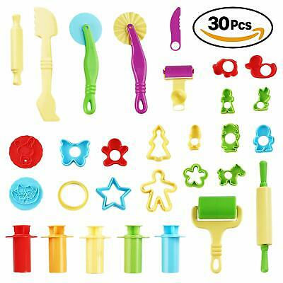 30 x Play Doh Kids Tools Set Modelling Craft Play Dough Mould Mold Toy Cutters