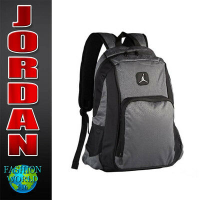 c34e9c595 Nike Air Jordan Legacy Elite Youth Backpack Laptop Book Bag 9A1456 -195 Grey