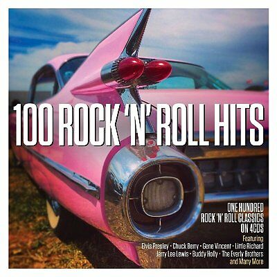 100 Rock 'n' Roll Hits 4 CDs Chuck Berry, Buddy Holly, Elvis Presley + many More