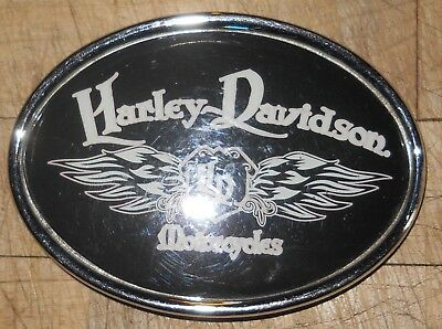 Harley Davidson Belt Buckle Black Enamel and Chrome 2006
