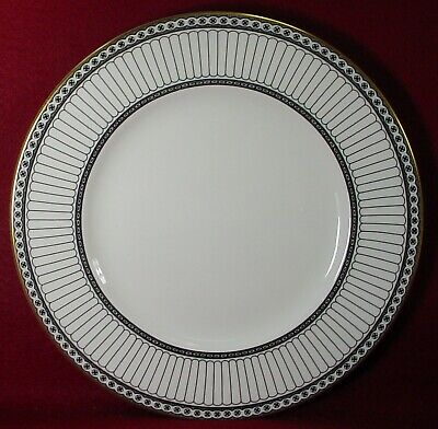 WEDGWOOD china COLONNADE BLACK pattern Dinner Plate - 10-5/8""