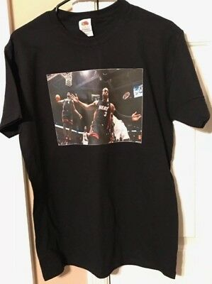 afef4458a9c5 LEBRON JAMES T Shirt Black XL X Large Men s NBA Miami Heat ...