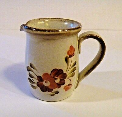 Denby Stoneware Floral 1/2 Pint Creamer Made in England