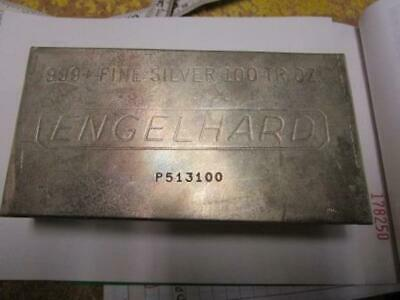 100 oz Vintage Engelhard Silver bar from collection stored 30 years  Free ship