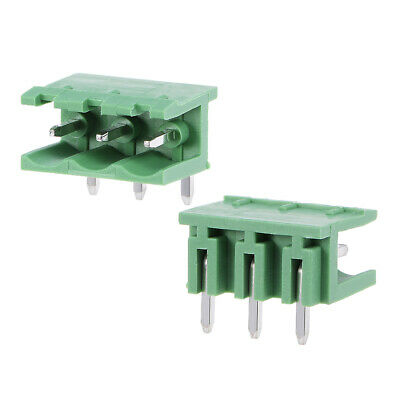 25Pcs AC 300V 15A 5.08mm Pitch 3P Flat Angle Needle Seat Insert-In PCB Terminal
