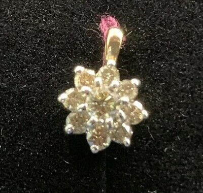 14kt Yellow Gold Cluster Pendant