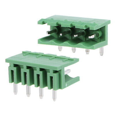 25Pcs AC 300V 15A 5.08mm Pitch 4P Flat Angle Needle Seat Insert-In PCB Terminal