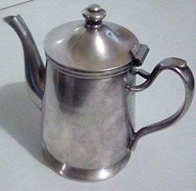 Antique Grand Silver Co Wear Brite Teapot c 1917 Nickle Silver