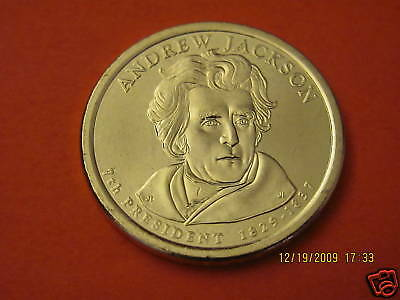Mint Roll 2008 P Andrew Jackson Presidential Dollar ~ Pos A ~ From U.S
