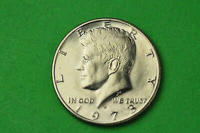 1973-D BU Mint State Kennedy US Half Dollar coin