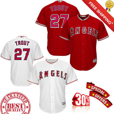 premium selection aa64e 78afd MEN'S LOS ANGELES Angels Mike Trout #27 Stitched Cool Base Baseball Jersey