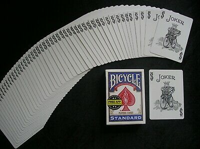 One Way Force Deck - Bicycle Playing Cards Blue JOKER Black & White