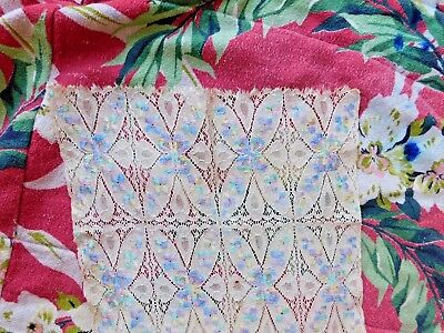 Antique Victorian Lace And Embroidery Panel Scarf Runner