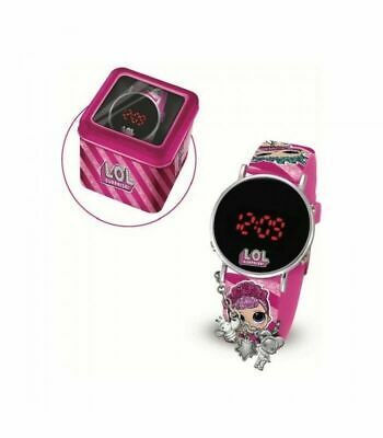 LOL SURPRISE orologio da polso bambina con charms e scatola in latta IDEA REGALO