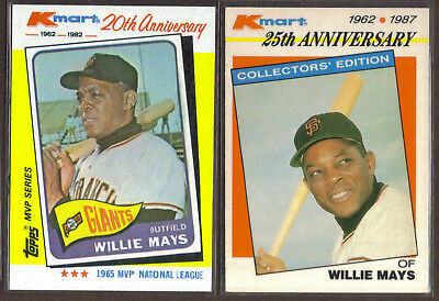 1987 Topps Kmart Stars Of The Decades 8 Willie Mays Baseball Card