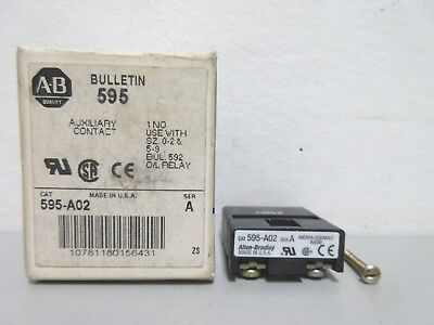 New Allen-Bradley 595-A02 Series A Auxiliary Contact