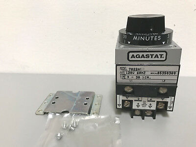 New Agastat 7022AH 3-30 Minute Timing Relay 120V Coil