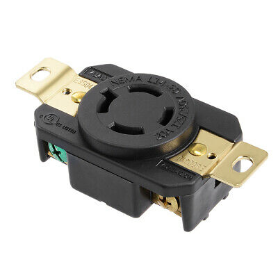 L14-20 Generator Lock Receptacle - 20A 125/250V, 3P 4W US Plug YUADON Authorized