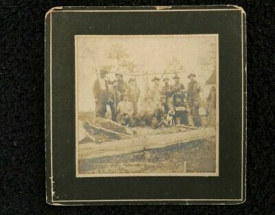 Vintage deer hunting camp photo picture several hunters
