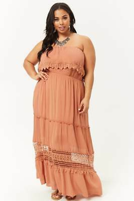FOREVER 21 PLUS Size Amber Strapless Maxi Dress 2X/3X ...