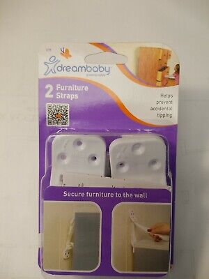 Dreambaby Furniture Straps For Baby Proofing Cabinet Anchoring 2 Pack