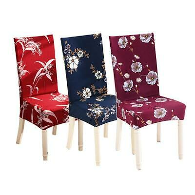 Short Stretch Removable Kitchen Chair Protector Bar Dining Room Cover Slipcover