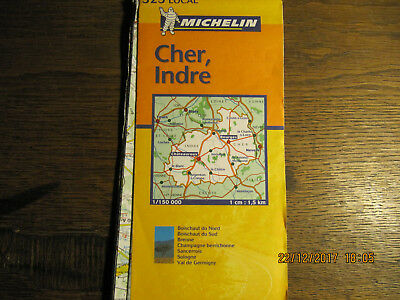Carte Michelin N°323 CHER, INDRE 1/150000 2002