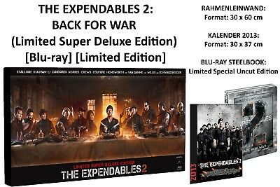 THE EXPENDABLES 2 Limited Super Deluxe Edition Box Steelbook BD Blu-ray Rare OOP