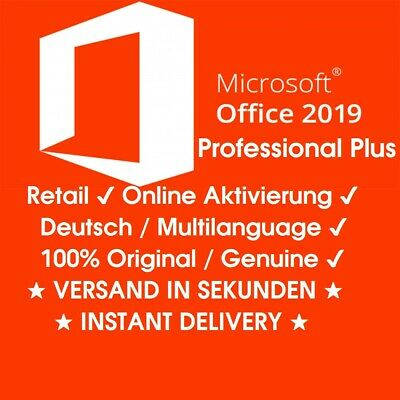 Microsoft Office 2019 Professional Plus ★1PC★ Produktschlüssel ◾ KEY ✔ 32&64Bit✔