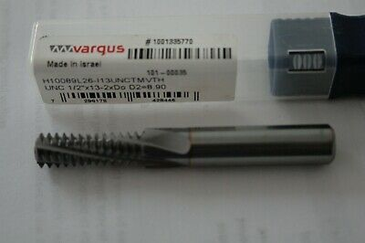 "Vargus Solid Carbide Thread Mill - UNC 1/2""X13 -2XDo D2=8.90 (101-00035)"