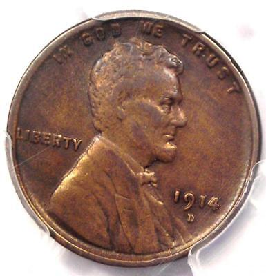 1914-D Lincoln Wheat Cent 1C - PCGS XF Details (EF) - Rare Key Date Penny!