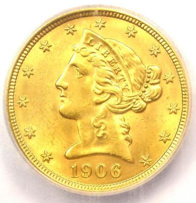 1906-D Liberty Gold Half Eagle $5 Coin - Certified ICG MS65 - $2,380 Value!