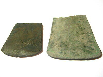 Bronze Flat Axe, Early Bronze Age 2300 BC to 2050 BC, Lot of 2
