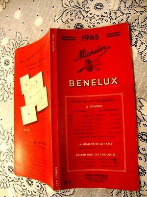 GUIDE MICHELIN BENELUX 1965. GUIDE ROUGE. FB indiqué