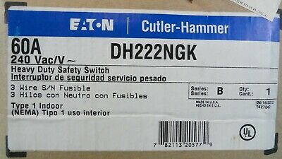 Cutler Hammer DH222NGK Safety Switch *New In Box*