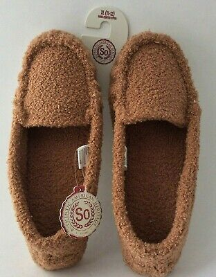 3e3ec62aae84 NWT SO BASIC Slip On Moccasin Slippers CHARCOAL GRAY Size XL 11-12 ...