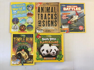 NATIONAL GEOGRAPHIC KIDS Books Angry Birds Quiz Whiz Readers Animals Lot of  17