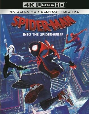 SPIDER-MAN:INTO THE SPIDER-VERSE(4K ULTRA HD+BLU-RAY+DIGITAL) Brand New, Sealed*