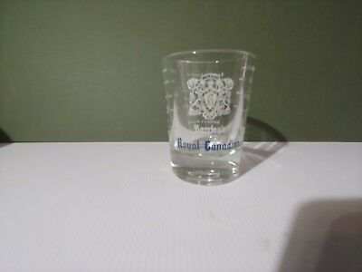 Barclay's Royal Canadian Large Heavy Bottom Shot Glass-holds 2.5oz - Libby Glass